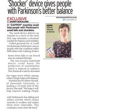 Featured image Dr Alison Yarnall's study in the Daily Mirror